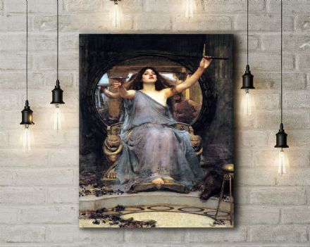 John William Waterhouse: Circe Offering the Cup to Ulysses. Fine Art Canvas.